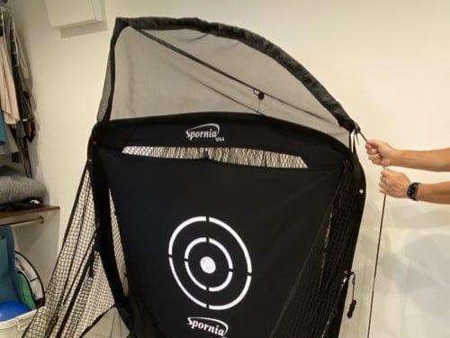Spornia ゴルフ練習用ネット 組み立ての様子2